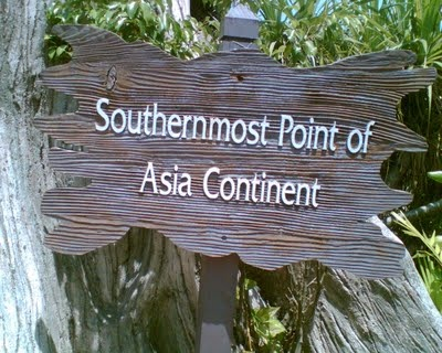 Palawan Beach in Sentosa has this sign that you get to buy crossing a hanging bridge.