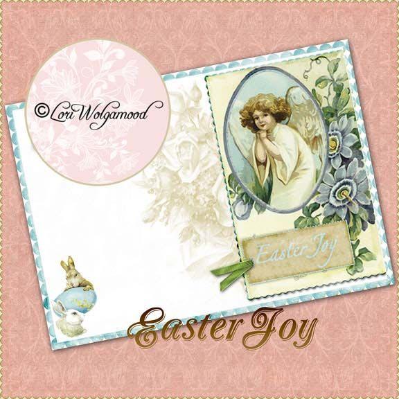 Easter Joy Card - Digital Scrapbooking Freebie