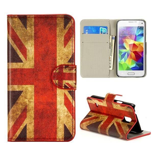 Britse vlag booktype hoes voor Samsung Galaxy S5 mini