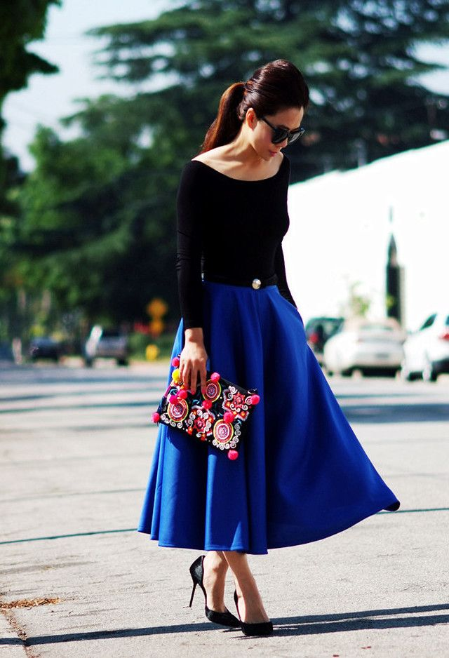 Indigo Blue Has Dazzling Effects.  Love everything about this outfit!