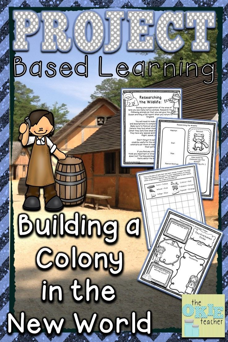 Project Based Learning: Building a Colony in the New World. Great extension activity for any of the English Colonies in the New World! Roanoke, Jamestown, Plymouth. Hands on creative work to engage your students!