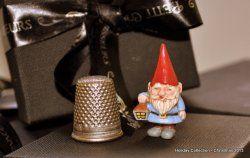 Hand Painted Garden Gnome I by Elmarie Wood-Callander