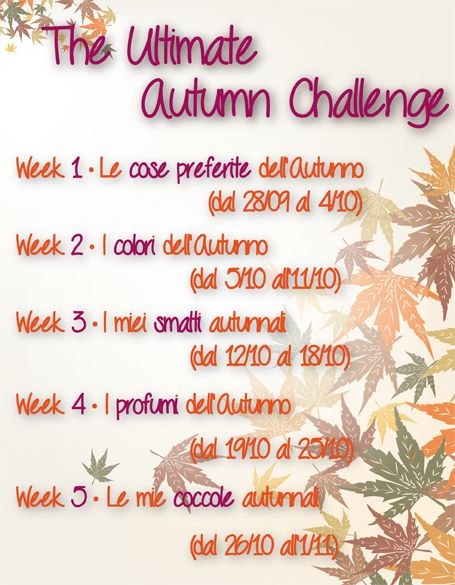 Su un filo di eyeliner ~ Make up & Beauty Blog : Tag: The Ultimate Autumn Challenge - Week #2