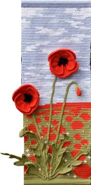 Poppy for Summer., One of the Four Seasons wall hangings set.