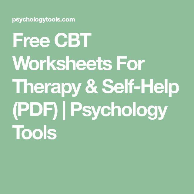 Self Help Cbt Exercises