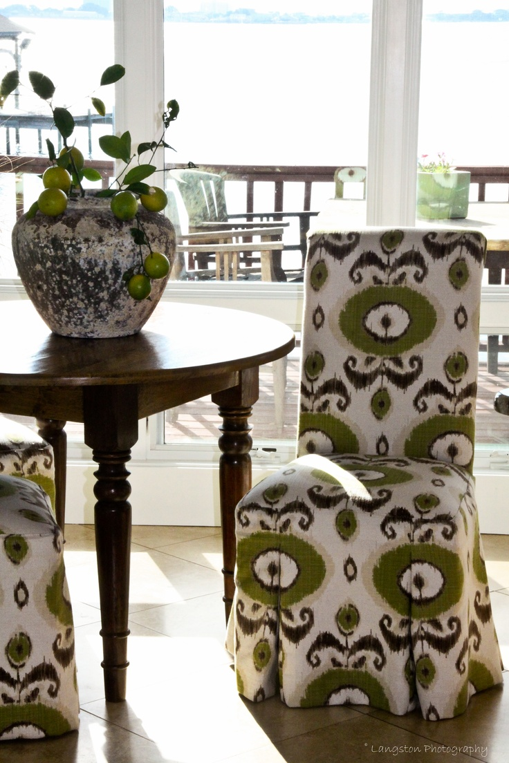 Parsons Chair update in Ikat