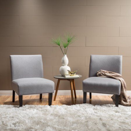 Best Noble House Clara Fabric Accent Chair Set Of 2 Light 400 x 300