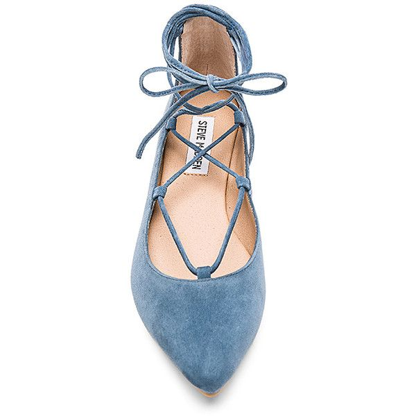 Steve Madden Eleanorr Ballet Flat (275 RON) ❤ liked on Polyvore featuring shoes, flats, lace up flats, ballerina shoes, laced up flats, steve-madden shoes and ballet flats