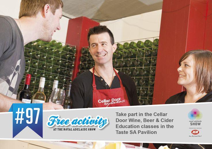 Enjoy wine, beer & cider education at the Cellar Door #AdelShow