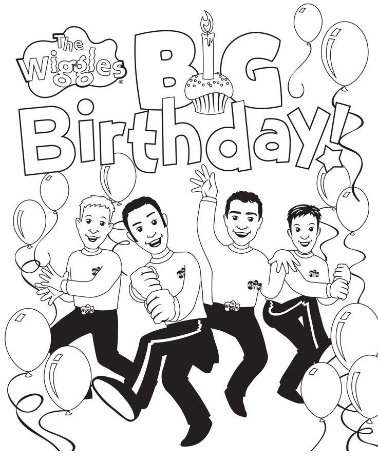 156 besten happy birthsday coloring bilder auf pinterest
