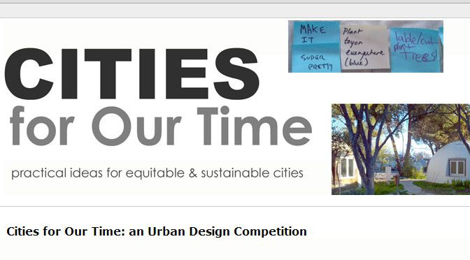 Cities for Our Time an Urban Design Competition