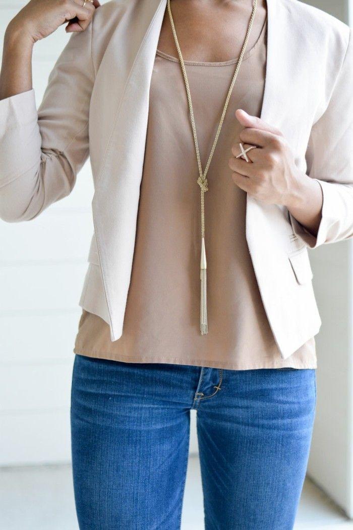 bijoux tendance collier mode et bague assortie