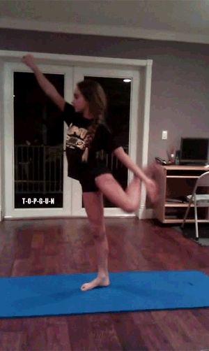 • mine amazing gymnastics flexible cheer cheerleading flexibility needle top gun scorpion straight scorpion top gun allstars all star cheerleading gabi butler straight leg t-o-p-g-u-n •