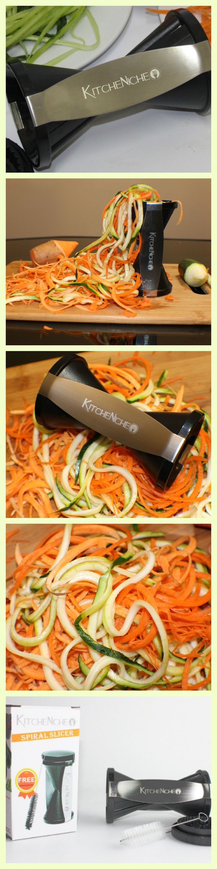 Make healthy Veggie Spaghetti with a Spiralizer by KitcheNiche !  the fastest way to create endless strands of veggie pasta in seconds. http://www.amazon.com/gp/product/B00PTNKPXK