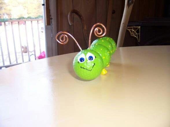 Golf ball caterpillar