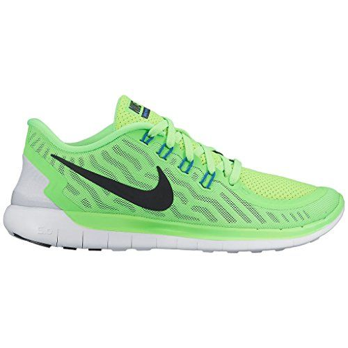 Women's Nike Free 5.0 Running Shoes Voltage Green/White/Blue Size 6.5 M US