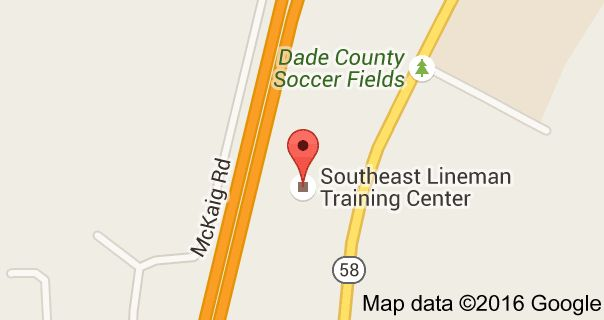 Map of Southeast Lineman Training Center