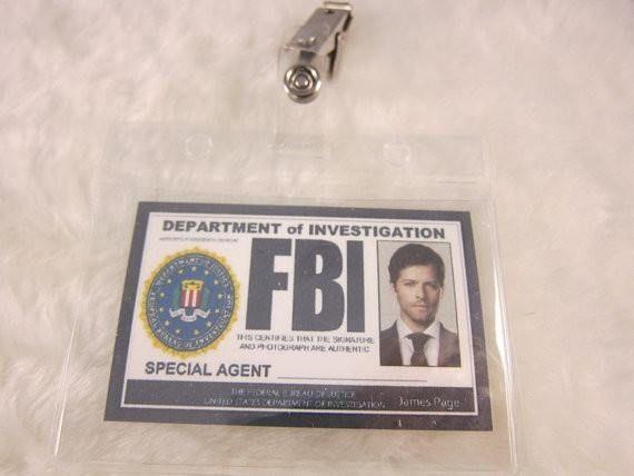 Supernatural Inspired FBI Badge - Castiel | Cosplay ...