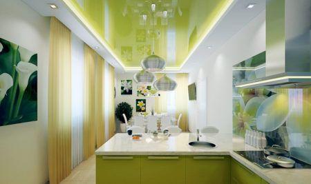 Кухня цвета зелени