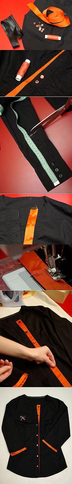 Мастер-класс. Переделка рубашки. Часть II. Превращение рубашки в оригинальную блузу | sorelle.ru