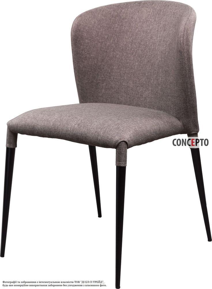 Dining chair Arthur grey by Concepto | Мягкий стул из ткани обеденный Атур серый Concepto #concepto #conceptoukraine #conceptocomua #diningchairs #chairs #grey #wingsback #furniture