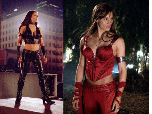 Jennifer Garner as Elektra in Daredevil and Elektra Movies