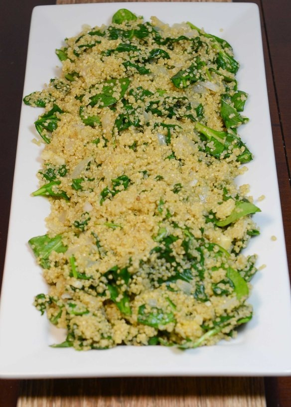 ... packed side dish the quinoa turned out perfect quinoa spinach pilaf