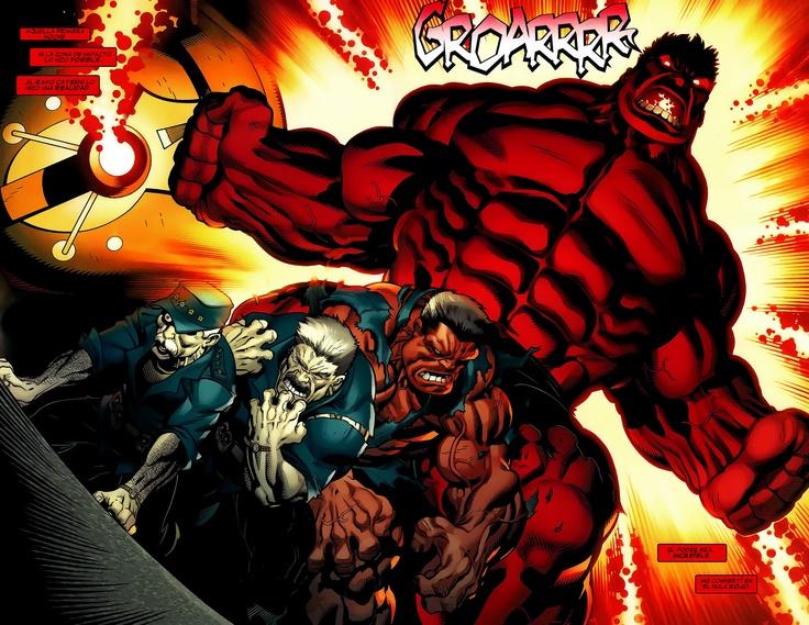 Red Hulk transformation