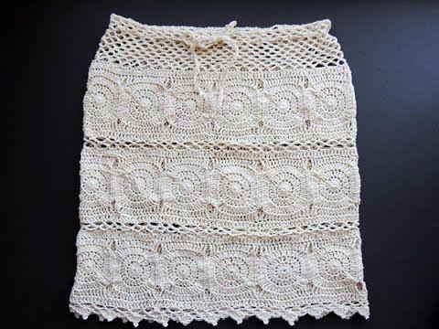 Cómo tejer pollera con círculos a crochet / Paso a paso | Crochet y Dos agujas - Patrones de tejido