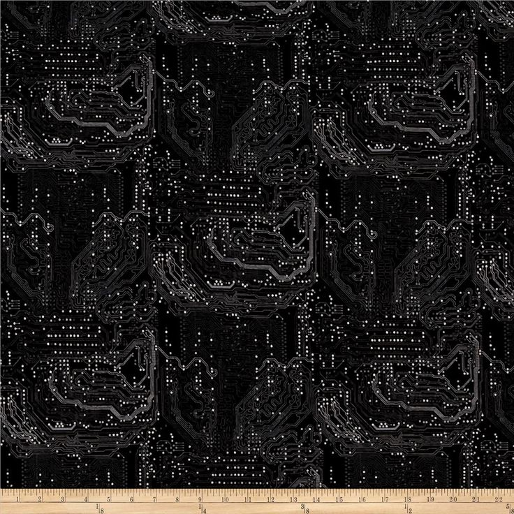 Silver Circuits Metallic Tonal Circuit Black from @fabricdotcom  From RJR Fabrics, this cotton print collection features metallic silver and tech accents. Perfect for quilting, apparel, and home decor accents. Colors include black and grey with metallic silver accents.