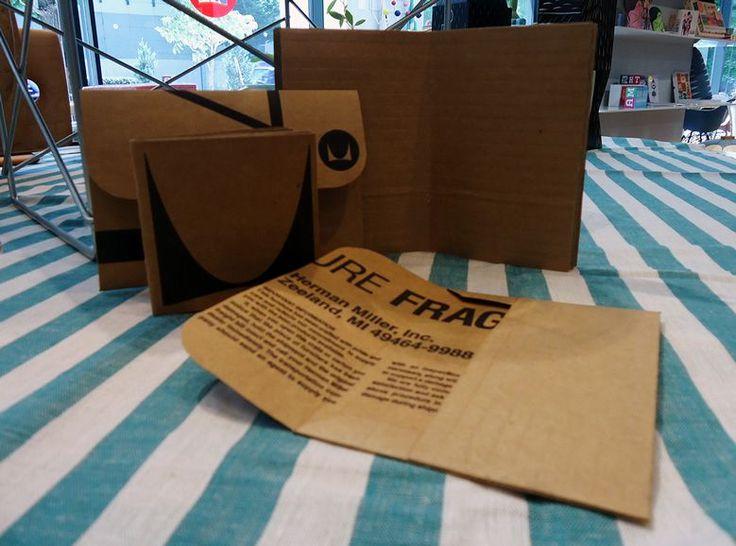 ハーマンミラーのダンボールでノート&レターセットを作るワークショップ