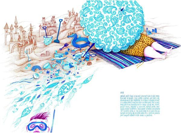 """Madalina Andronic illustration for """"Behind the scenes: Fairytale Heroes"""", 2010."""