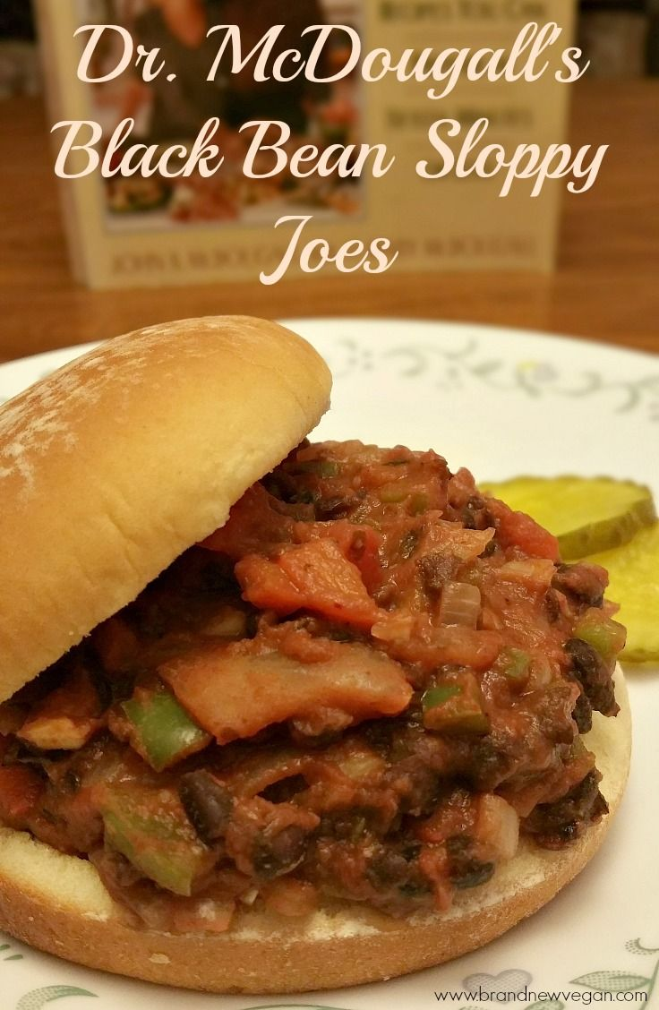 Black Bean Sloppy Joes | Fresh onions, bell peppers, black beans, and tomato sauce come together in a fresher, healthier, version of my favorite sandwich.