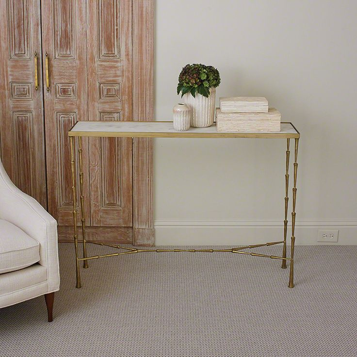 Spike Console W/ White Marble. Entry TablesAccent ...