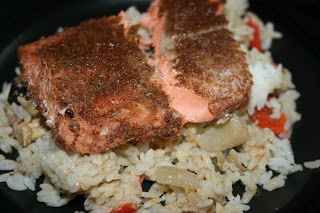 CrockPot Jamaican Salmon. I made this using barramundi, and it turned out well.