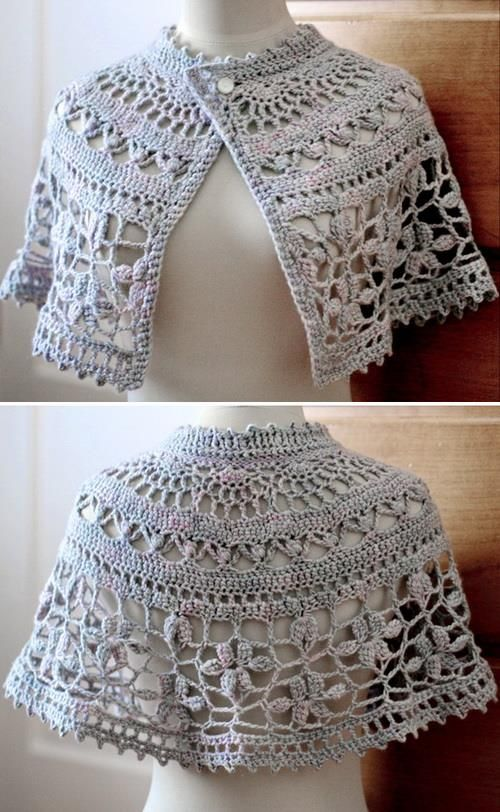 vv: Nice crochet capelet - 5 beautiful patterns for free! *** Hübscher Häkelumhang, 5 kostenlose Anleitungen zum Download!