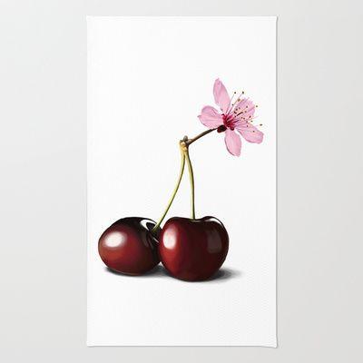 Cherry Blossom, In Memory of Mackenzie Rug by Rob Snow