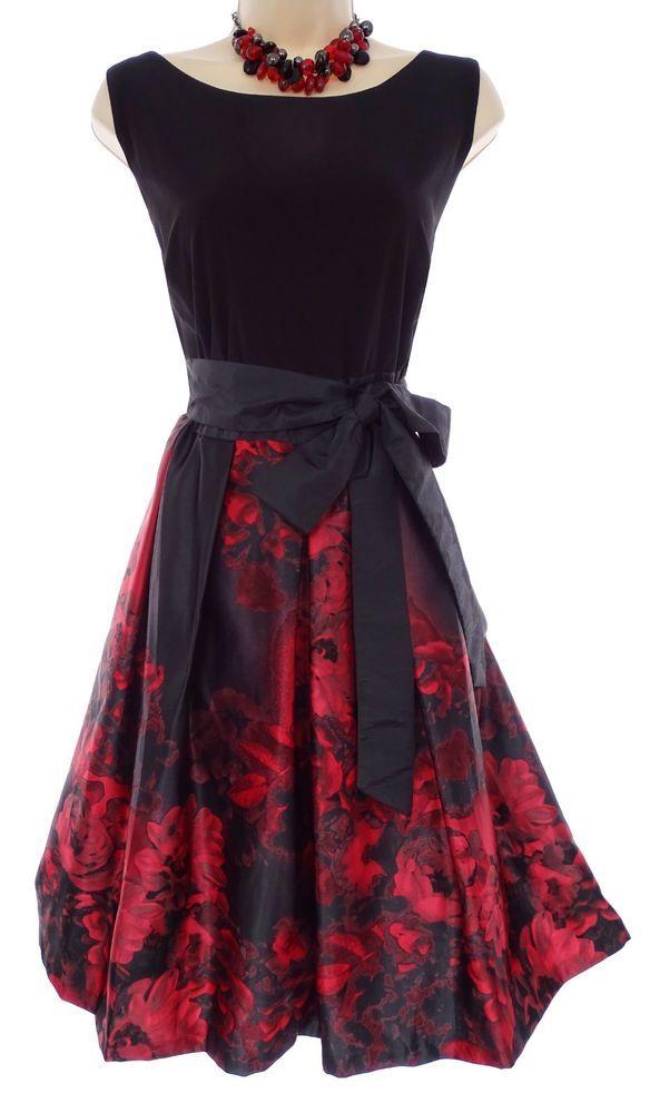 84028b4ab0 14W 1X SEXY Womens FIT   FLARE BLACK TOP FLORAL SKIRT Dress Holiday PLUS  SIZE  Dressbarndbestablished1962  Versatile