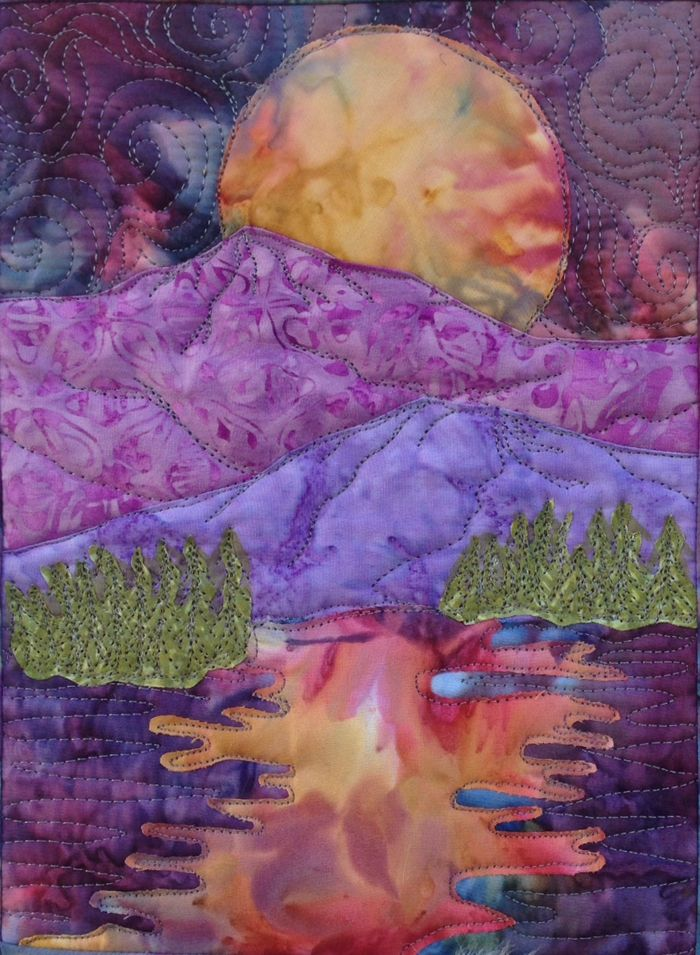 Small Landscape Art Quilt Pattern That Is Perfect For