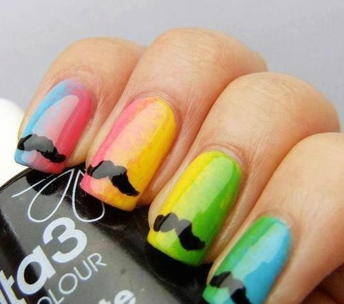 color neon  nail art