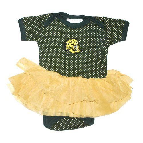 Two Feet Ahead Infant Girls' Southeastern Louisiana University Pin Dot Tutu Creeper (Green, Size 0-3 Months) - NCAA Licensed Product, Toddler Licen...