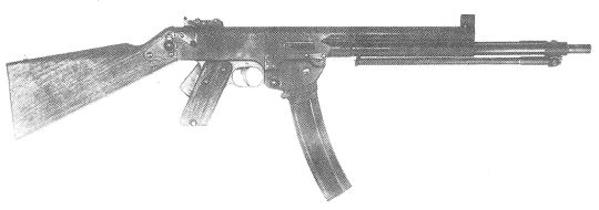 The MAS 49. Chambered in .30 Carbine. Note the long barrel and bipod.