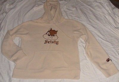 "GIRL'S CLASSIC LOONEY TUNES PEPE LE PEW Beige Sweatshirt t Sz. L (Chest--20"")"
