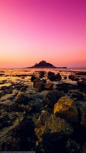 Sunrise at St Michael's Mount, Marazion, Cornwall, England