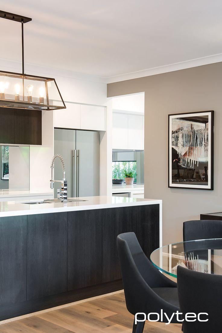 152 best polytec inspiration images on pinterest for Matt black kitchen doors