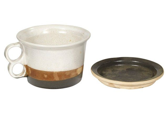 1960s Bennington Pottery Mug & Coaster