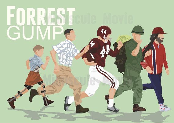 Forrest Gump Movie Print Poster by MinusculeMotion on Etsy