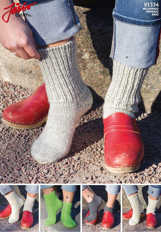 Ragg socks with Boomerang heel.