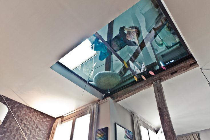 Plafond en verre. Louise Desrosiers pour MilK DECORATION.