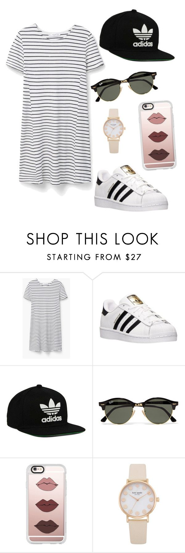 """""""Untitled #2"""" by airyv ❤ liked on Polyvore featuring MANGO, adidas, adidas Originals, Ray-Ban and Casetify"""